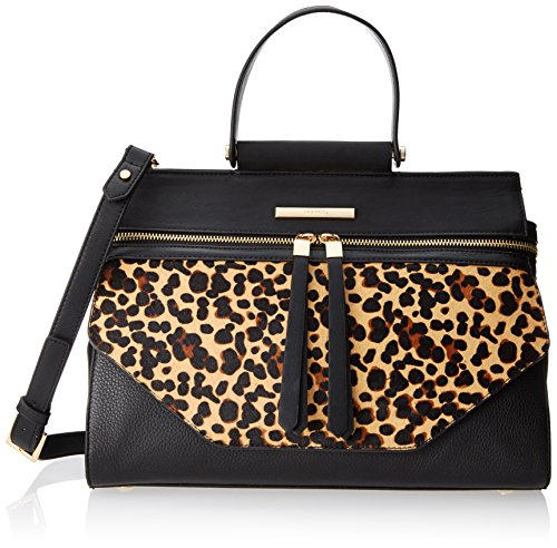 Nine West 9W City Chic Hewes Satchel Top Handle Bag, Leopard, One Size