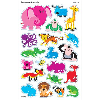 Trend Enterprises Inc Large Animals superShapes Stickers 46328 - 1