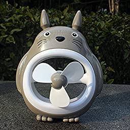 Totoro Fan Desktop Decoration Desk Ornaments Portable Mini Cartoon Small Fan Large Wind Office (2)