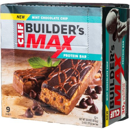 Clif Max Mint Chocolate Chip Bars, 9 Pk