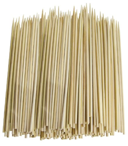 Great Deal! Pack of 300 Thin Bamboo Skewers (10 Inch)