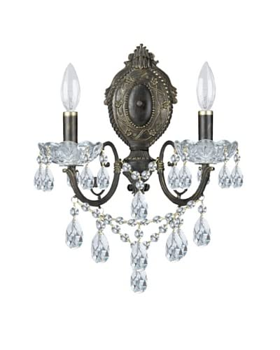 Gold Coast Lighting French Wrought Iron Wall Sconce, English Bronze