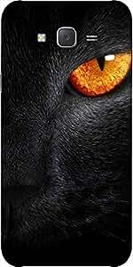 Snoogg Cat Eyes Designer Protective Back Case Cover For Samsung J5
