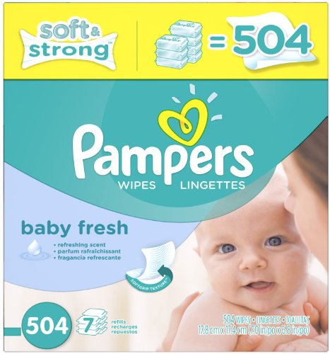 Pampers Baby Fresh Baby Wipes Refill - 504ct - 1