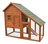 BUNNY BUSINESS Deluxe Mini Lodge Rabbit/ Guinea Hutches, 141 x 66 x 120 cm
