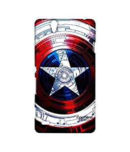 Captains Shield Decoded - Sublime case for Sony Xperia C4
