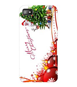ColourCraft Merry Christmas Design Back Case Cover for BLACKBERRY Z10