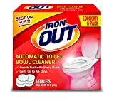 Super Iron Out AT46N Automatic Toilet Bowl Cleaner-7.6 oz (216g) / 6 Uses-Rust and Hard Water Stain Repellent Cleans with Each Flush-45 Days Per Tablet by Summit Brands