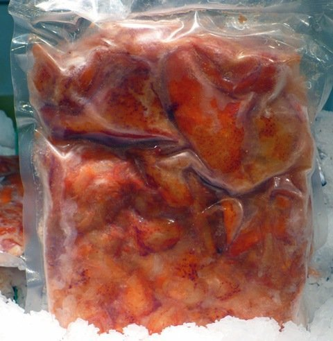 lobster claw and knuckle meat, cooked, product of canada, 2 LBS, frozen