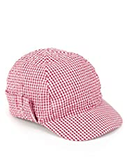 Gingham Checked Kepi Hat
