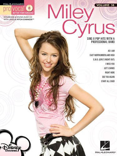 Miley Cyrus - Pro Vocal Song Book & Cd for Female Singers Vol.38 (Hal Leonard Pro Vocal)