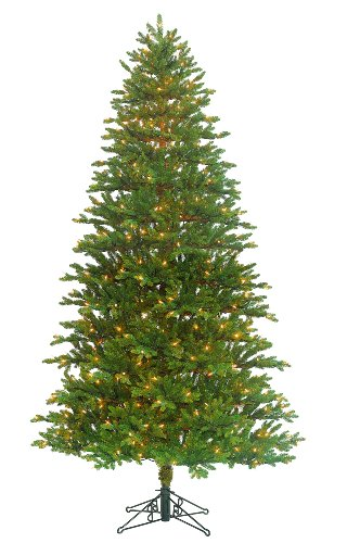 Barcana Shenandoah Valley Slim Deluxe Fir Christmas Tree, 9-Foot with 600 Clear Mini Lights