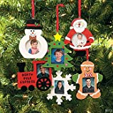 Wooden Photo Frame Christmas Ornaments – box of 12