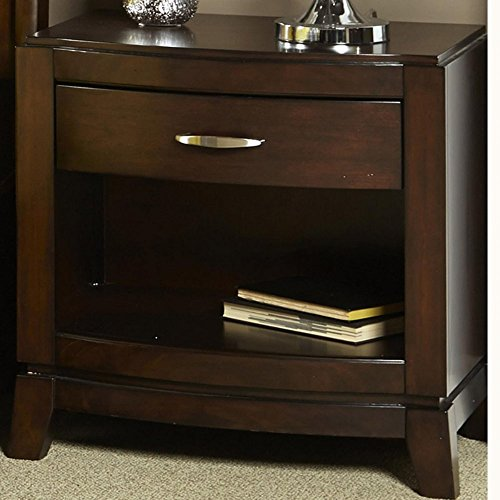 Liberty Furniture Liberty Furniture Avalon 1 Drawer Nightstand - Dark Truffle, Brown, Wood front-873354