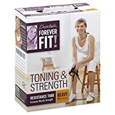 Forever Fit Resistance Tube, Toning & Strength, Heavy, 1 tube