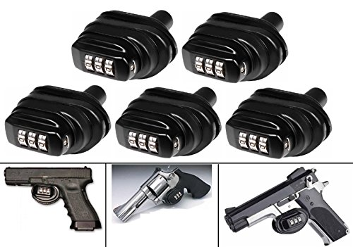Buy Ultimate Arms Gear Pack Of 5 Number Combination Secure Steel & Zinc Bodied Universal Firearm Gun...
