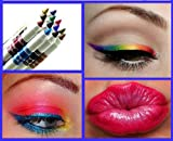 12 Ultra Bright Color Eyeshadow Lip Liner Eye Shadow Eyeliner Pencil Pen Cosmetic Makeup Set!!!