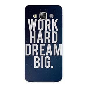 Impressive Hard Dream Back Case Cover for Galaxy E7