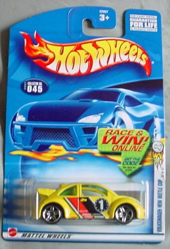 Hot Wheels 2002-045 First Editions Volkswagen New Beetle Cup 1:64 Scale - 1