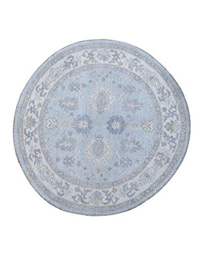 Kalaty One-of-a-Kind Pak Round Rug, Blue, 5' 1 x 5' 1