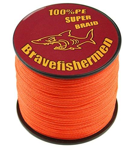 Fluorescent orange Super Strong Pe Braided Fishing Line 6LB to100LB (300m, 30LB) (Fluorescent Fishing Line compare prices)