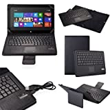 eTopxizu Detachable Removable Folding Wireless Bluetooth Keyboard Pu Leather Stand Case Cover Mouse Touchpad for Microsoft Surface Rt/pro Win8 Windows 8 Tablet-black