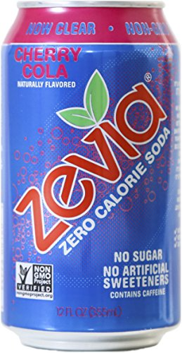 Zevia Zero Calorie Soda, Cherry Cola, Naturally Sweetened, (Pack of 24)