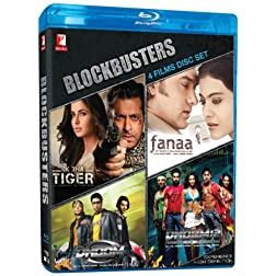 BLOCKBUSTERS (4 FILM DISC SET) Ek Tha Tiger/ Fanaa/ Dhoom/ Dhoom 2 - Blu Ray (Hindi Film / Bollywood Movie / Indian Cinema) 2013 [Blu-ray]