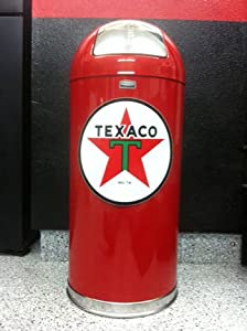 Amazon Com Retro Style Bullet Red Trash Can Texaco Star