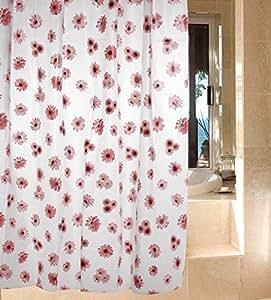 pink flower cute cheap bathroom shower curtains peva vinyl curtain 72inch 72inch. Black Bedroom Furniture Sets. Home Design Ideas