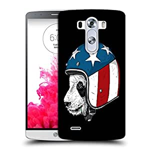 Snoogg Bear With Helmet Designer Protective Back Case Cover For LG G3