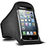 Direct-2-Your-Door - Apple Ipod Touch 4 Sports Armband Strap Pouch Case Cover - Black