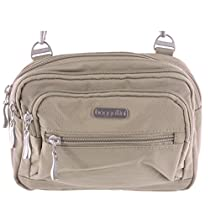 Baggallini Multi Pocket Crossbody/Waist Bag for Women - Highly Functional, Durable Design for Travel, Sightseeing, or Shopping - Great Utility Purse - Optimal Organizational and Accessibility (Beach)