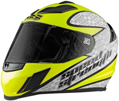 Speed & Strength SS2000 Twist of Fate Helmet , Size: XL, Distinct Name: Twist of Fate Hi-Vis Yellow, Helmet Type: Full-face Helmets, Helmet Category: Street, Primary Color: Yellow, Gender: Mens/Unisex 87-5520