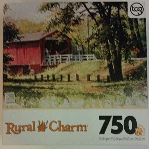 Rural Charm 750 Piece Puzzle Looking for Fish