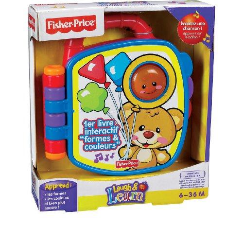 Fisher Price - P2765 - Jeu éducatif premier âge - 1er livre interactif Formes & Couleurs