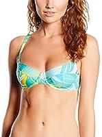 Chantelle Sujetador de Bikini Cap Verde (Blanco / Cielo)