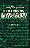 Remarks on the Philosophy of Psychology, Volume 2 (0226904342) by Ludwig Wittgenstein
