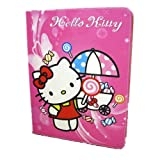 Red Candy - Hello Kitty Cute Cartoon Synthetic Leather Case + Soft TPU Cover Skin For Apple Ipad Air (iPad 5 5th Generation) (Package includes: 1X Stylus Pen image