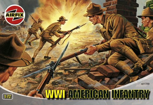 Buy Low Price Hornby Airfix A01729 1:72 Scale WWI Us Infantry Figures Classic Kit Series 1 (B00169OK78)