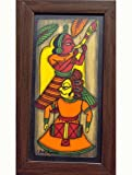 "The India Craft House Veneer Ply Board Contemporary Art Phad Paintings - 13.5"" x 8"""