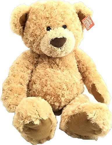 Gund-Maxie-Huge-24-Teddy-Bear-in-Beige-Rose-Swirl-Fabric