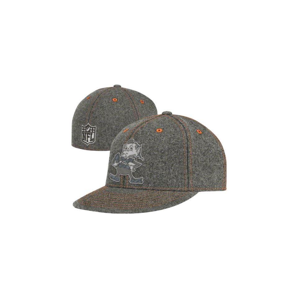 Cleveland Browns Flex Hat Grey Series Melton Wool Flat Brim Flex Hat ... 2c4ed26ab12e