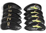 Picture Of <h1>Golf Iron Club Head Covers Set &#8211; High Quality PU Leather Golf Iron Covers &#8211; Attractively Embroidered Golf Iron Club Covers &#8211; Suitable for Left/right Handed Ladies&#8217; and Gentlemen&#8217;s Clubs</h1>