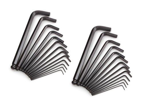 TEKTON 25282 Long Arm Ball End Hex Key Wrench Set, Inch/Metric, 26-Piece