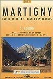 echange, troc Cartes Office Fédéral de Topographie Suisse - Carte de randonnée : Martigny pédestre