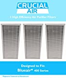 3 Blueair Air Purifier Filters Fit 400 Series Air Purifiers, Designed & Engineered by Crucial Air