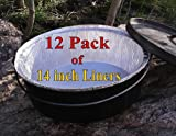 Disposable Foil Dutch Oven Liner, 12 Pack 14