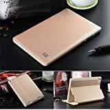"""For XiaoMi Mi Pad (1st Gen) Tablet 7.9 Inch Flip Case Cover, [Wake/Sleep Function] PU Leather Stand Flip Carry Case Cover For Xiaomi Mi Pad 7.9"""" Inch Smart Flip Cover Case (Gold)"""