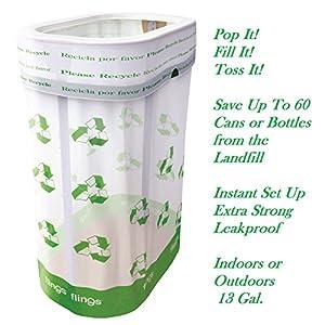 Flings Bins POP UP Recycle - Single Pack